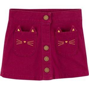 Carter's Corduroy Cat Skirt